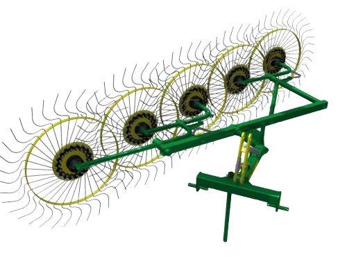 Фото к Колесно пальцевые грабли ворошилки «Солнышко» (5 колес)