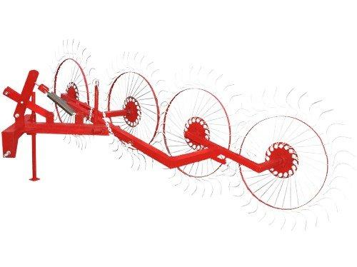 Фото к Колесно пальцевые грабли ворошилки «Солнышко» (4 колеса)