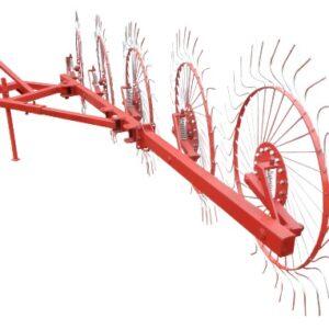 Фото к Грабли колесно-пальцевые «Солнышко» на 5 колес